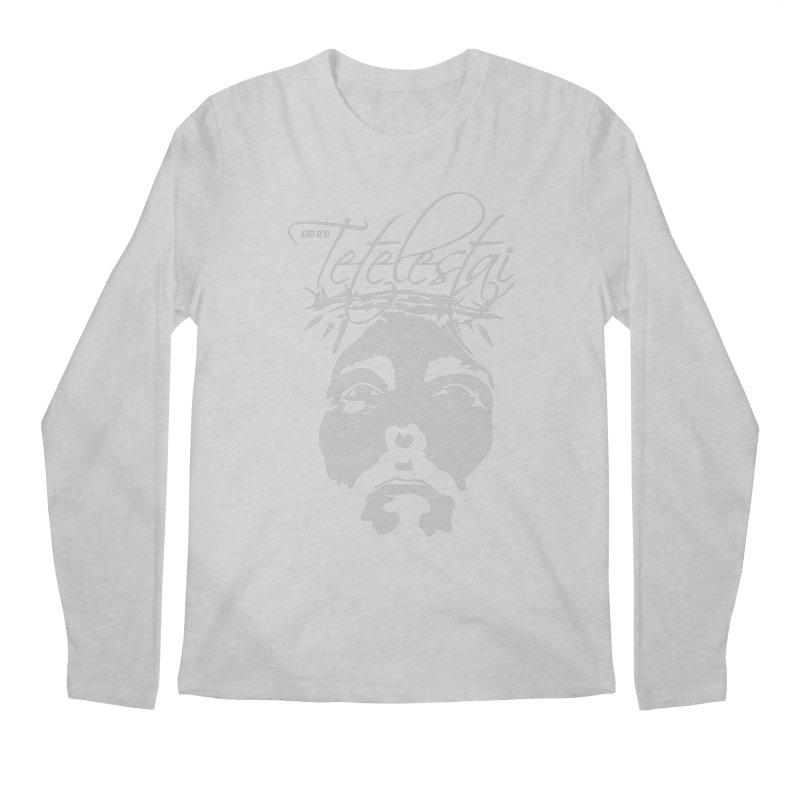 Tetelestai Men's Regular Longsleeve T-Shirt by Stand Forgiven ✝ Bible-inspired designer brand