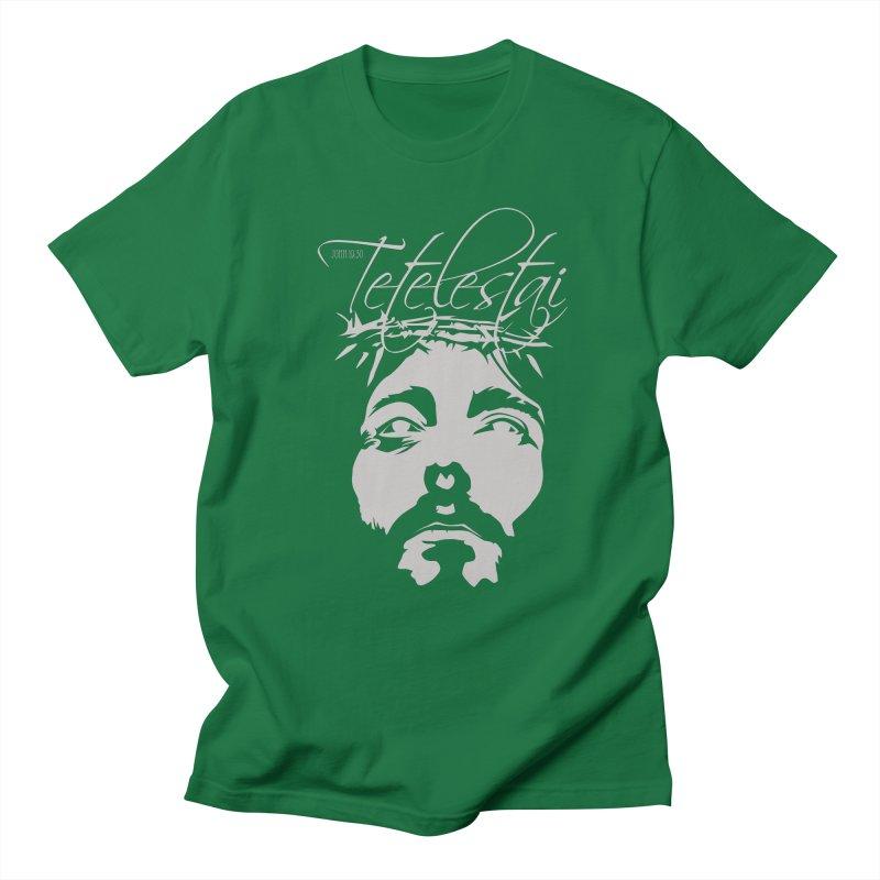 Tetelestai Women's Regular Unisex T-Shirt by Stand Forgiven ✝ Bible-inspired designer brand