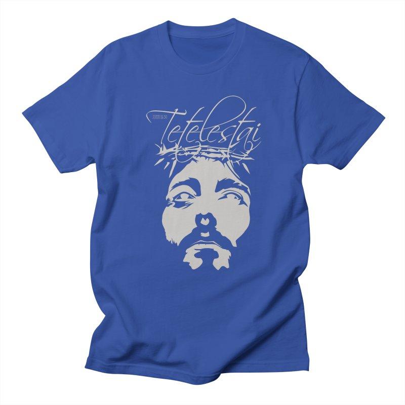 Tetelestai Men's Regular T-Shirt by Stand Forgiven ✝ Bible-inspired designer brand