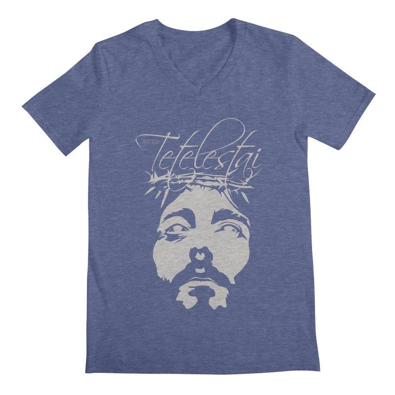 Tetelestai Men's Regular V-Neck by Stand Forgiven ✝ Bible-inspired designer brand