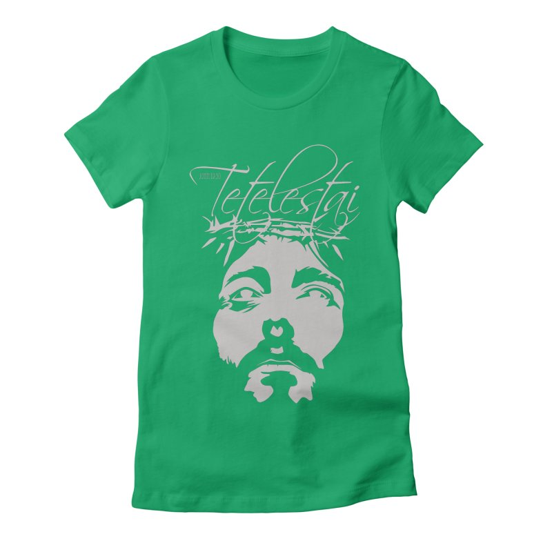 Tetelestai Women's Fitted T-Shirt by Stand Forgiven ✝ Bible-inspired designer brand