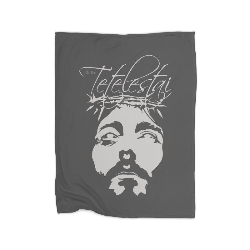 Tetelestai Home Blanket by Stand Forgiven ✝ Bible-inspired designer brand