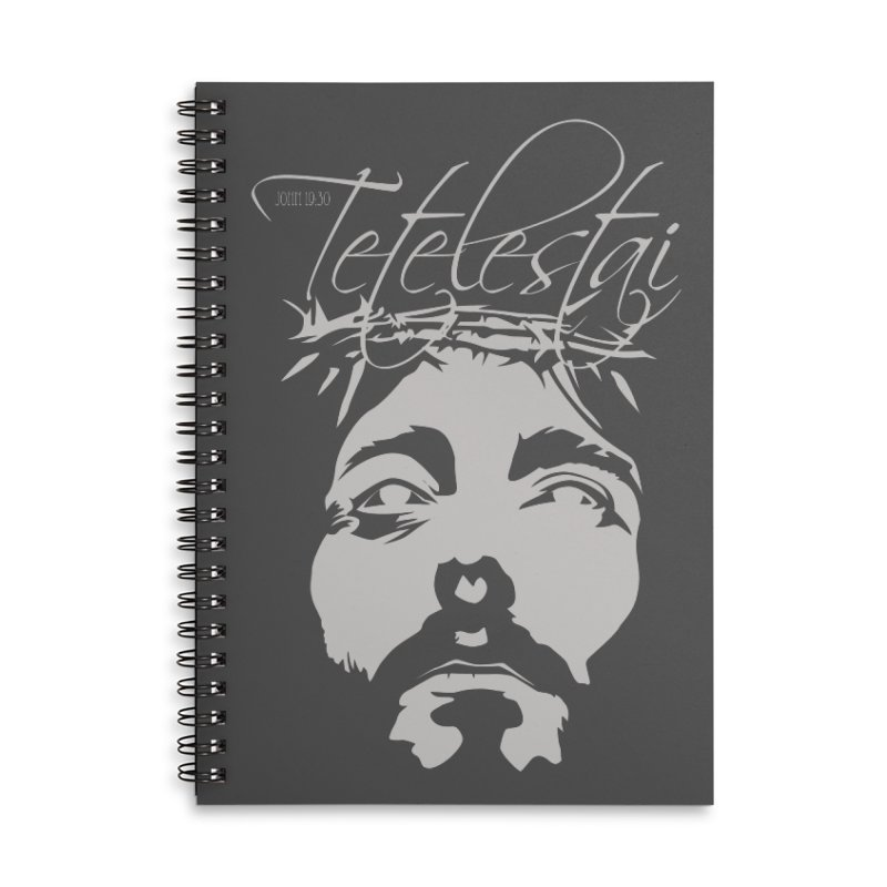 Tetelestai Accessories Lined Spiral Notebook by Stand Forgiven ✝ Bible-inspired designer brand