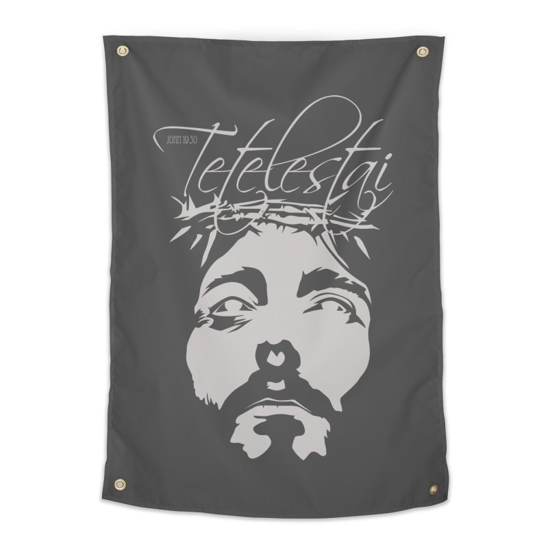 Tetelestai Home Tapestry by Stand Forgiven ✝ Bible-inspired designer brand