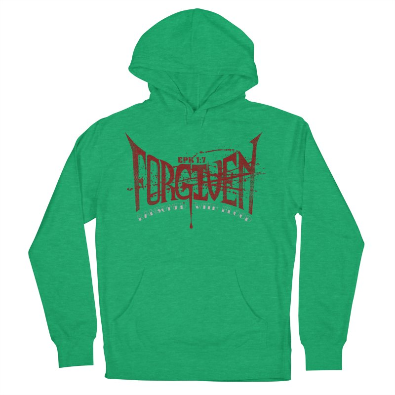 Forgiven: Ransomed with Blood Women's French Terry Pullover Hoody by Stand Forgiven ✝ Bible-inspired designer brand