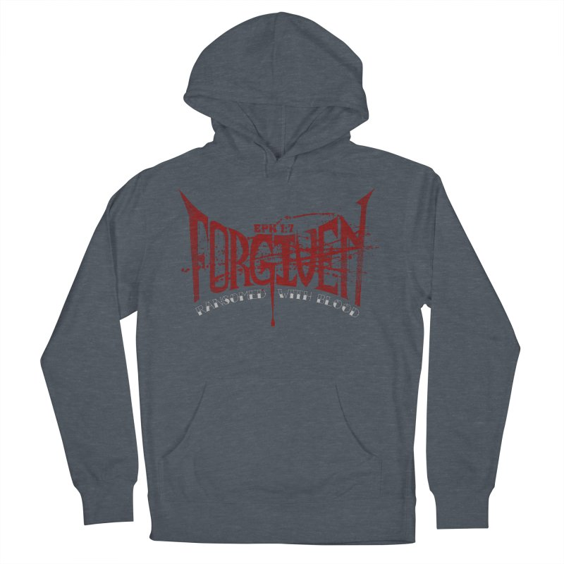 Forgiven: Ransomed with Blood Men's French Terry Pullover Hoody by Stand Forgiven ✝ Bible-inspired designer brand
