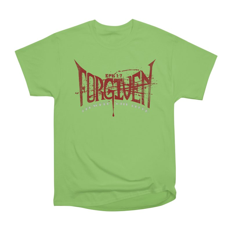 Forgiven: Ransomed with Blood Women's Heavyweight Unisex T-Shirt by Stand Forgiven ✝ Bible-inspired designer brand
