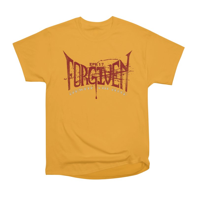Forgiven: Ransomed with Blood Men's Heavyweight T-Shirt by Stand Forgiven ✝ Bible-inspired designer brand