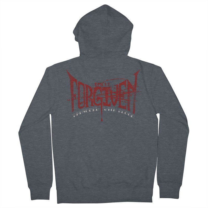 Forgiven: Ransomed with Blood Men's French Terry Zip-Up Hoody by Stand Forgiven ✝ Bible-inspired designer brand