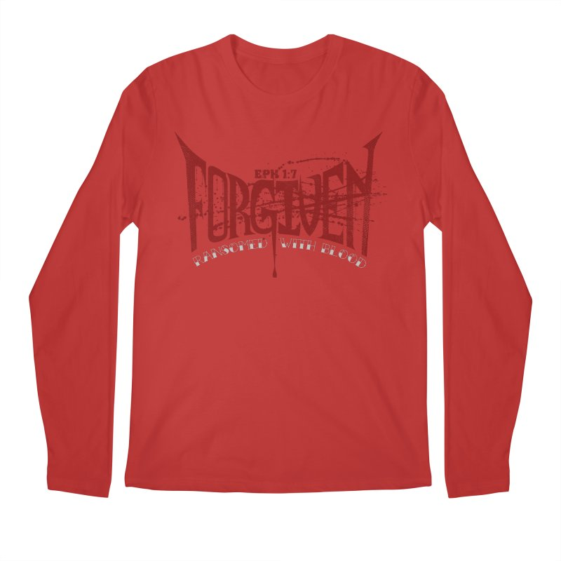 Forgiven: Ransomed with Blood Men's Regular Longsleeve T-Shirt by Stand Forgiven ✝ Bible-inspired designer brand