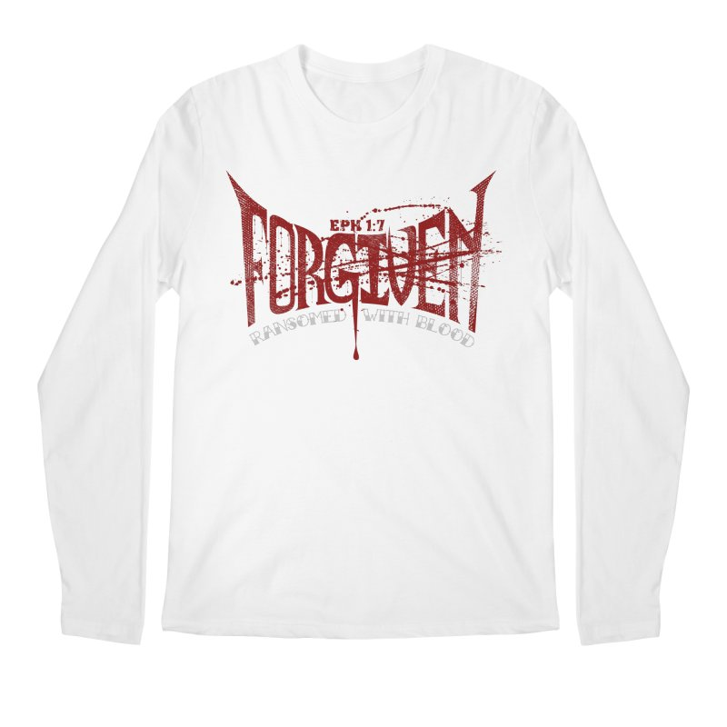 Forgiven: Ransomed with Blood Men's Longsleeve T-Shirt by Stand Forgiven ✝ Bible-inspired designer brand