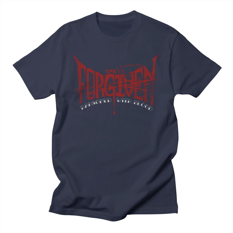 Forgiven: Ransomed with Blood Men's Regular T-Shirt by Stand Forgiven ✝ Bible-inspired designer brand
