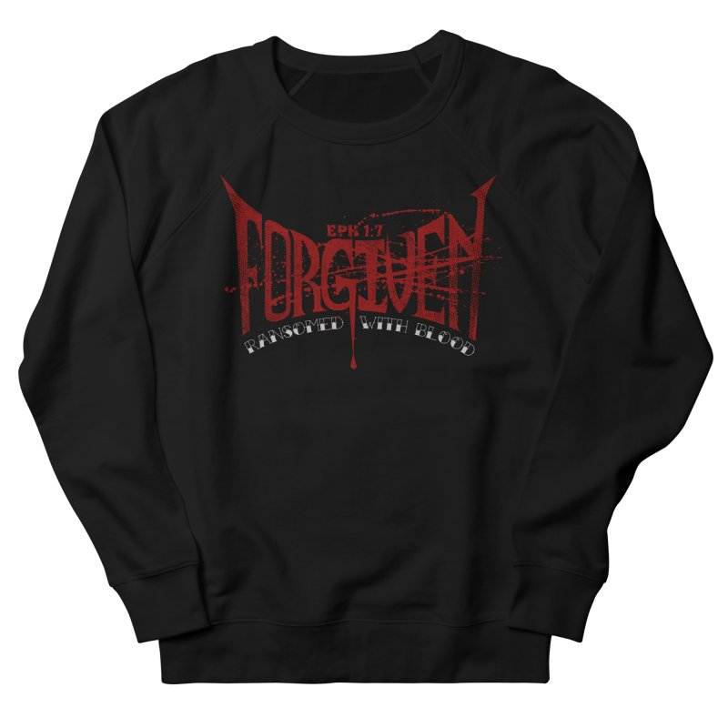 Forgiven: Ransomed with Blood Women's French Terry Sweatshirt by Stand Forgiven ✝ Bible-inspired designer brand