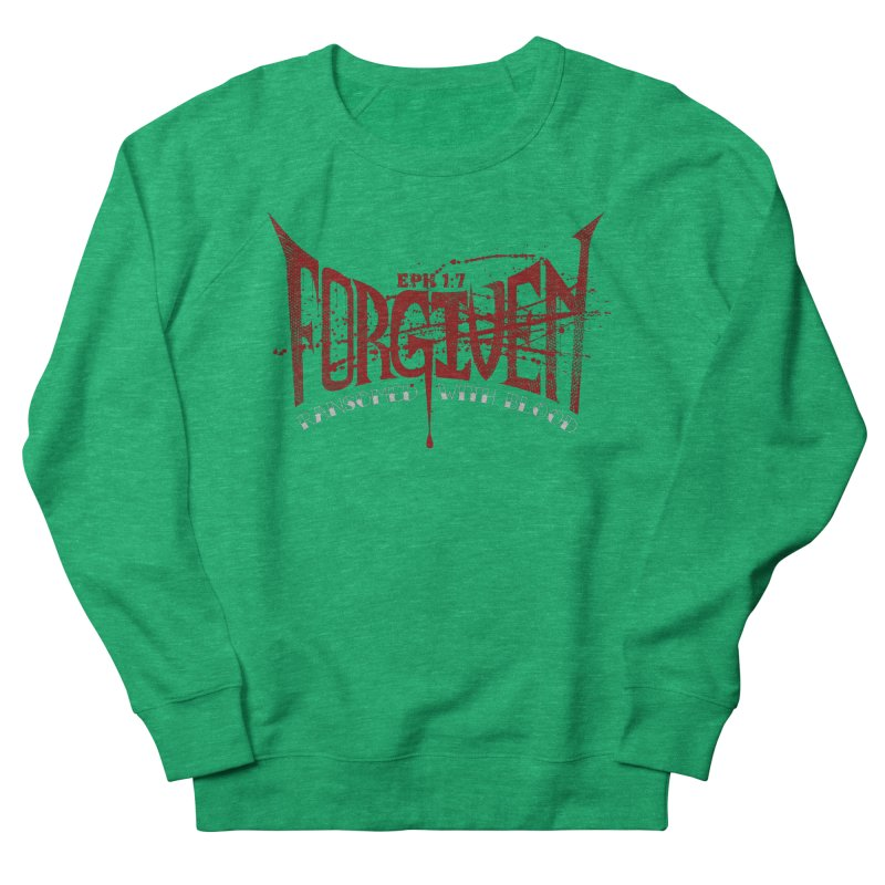 Forgiven: Ransomed with Blood Men's French Terry Sweatshirt by Stand Forgiven ✝ Bible-inspired designer brand