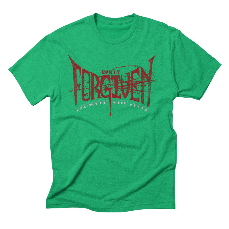 Forgiven: Ransomed with Blood Men's Triblend T-Shirt by Stand Forgiven ✝ Bible-inspired designer brand