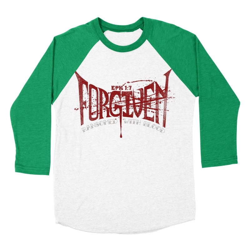 Forgiven: Ransomed with Blood Women's Baseball Triblend Longsleeve T-Shirt by Stand Forgiven ✝ Bible-inspired designer brand