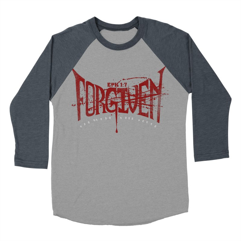 Forgiven: Ransomed with Blood Men's Baseball Triblend T-Shirt by Stand Forgiven ✝ Bible-inspired designer brand