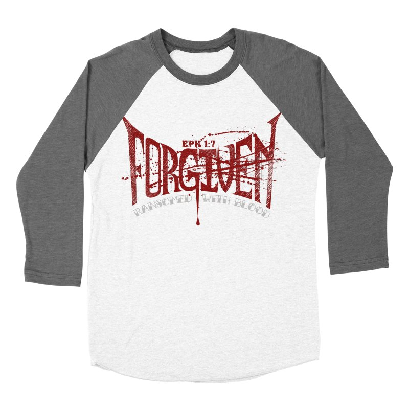 Forgiven: Ransomed with Blood Men's Baseball Triblend Longsleeve T-Shirt by Stand Forgiven ✝ Bible-inspired designer brand