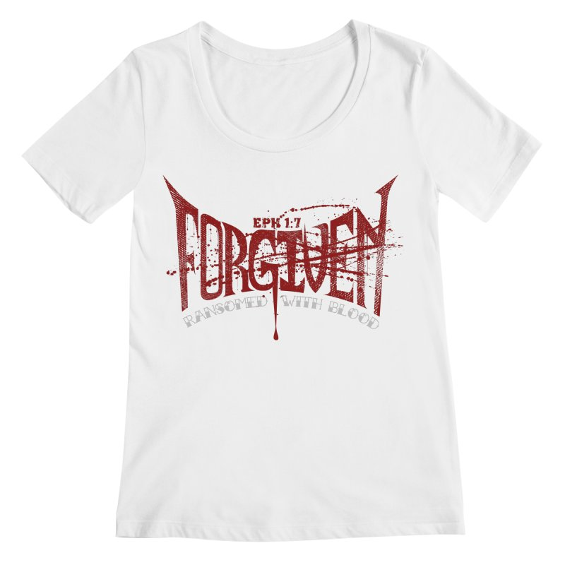 Forgiven: Ransomed with Blood Women's Regular Scoop Neck by Stand Forgiven ✝ Bible-inspired designer brand