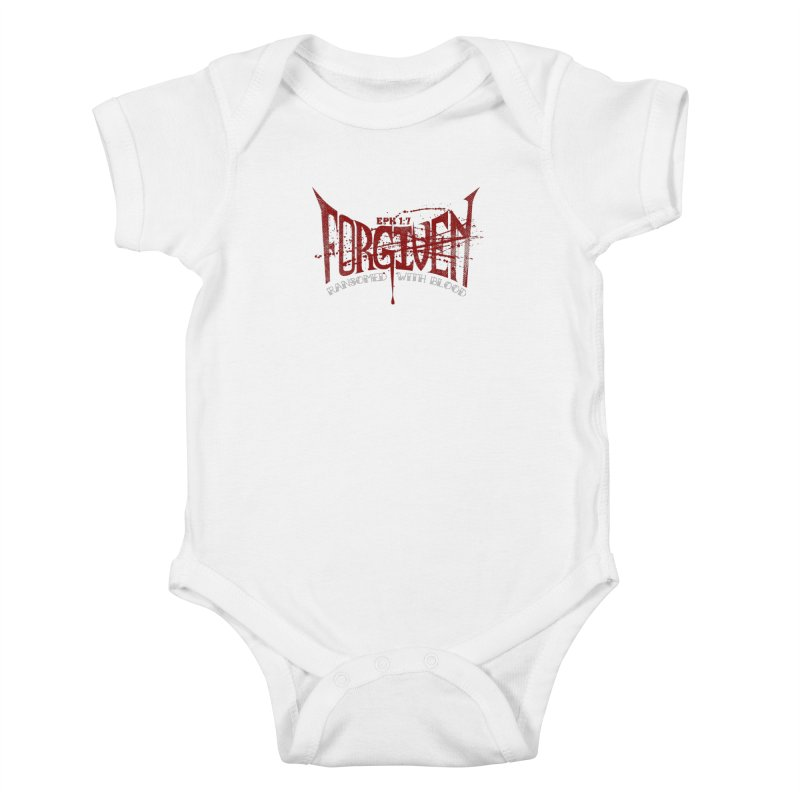 Forgiven: Ransomed with Blood Kids Baby Bodysuit by Stand Forgiven ✝ Bible-inspired designer brand