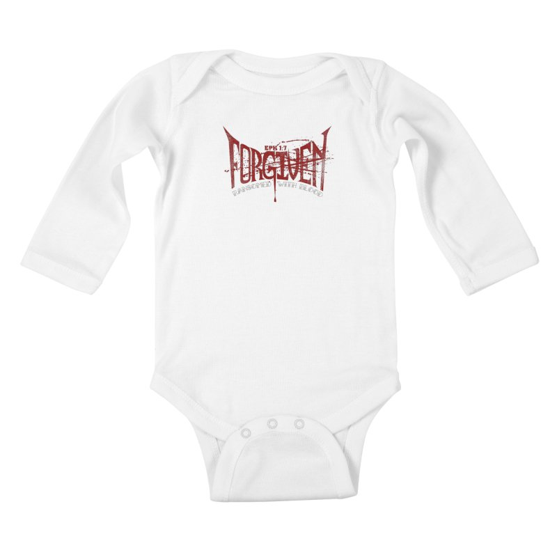 Forgiven: Ransomed with Blood Kids Baby Longsleeve Bodysuit by Stand Forgiven ✝ Bible-inspired designer brand