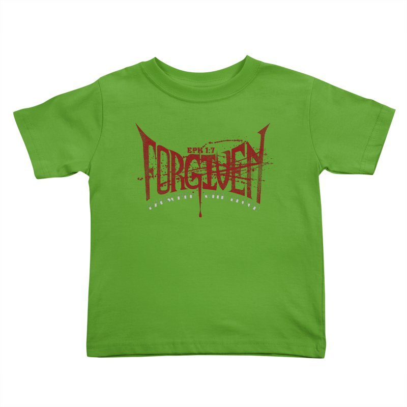 Forgiven: Ransomed with Blood Kids Toddler T-Shirt by Stand Forgiven ✝ Bible-inspired designer brand