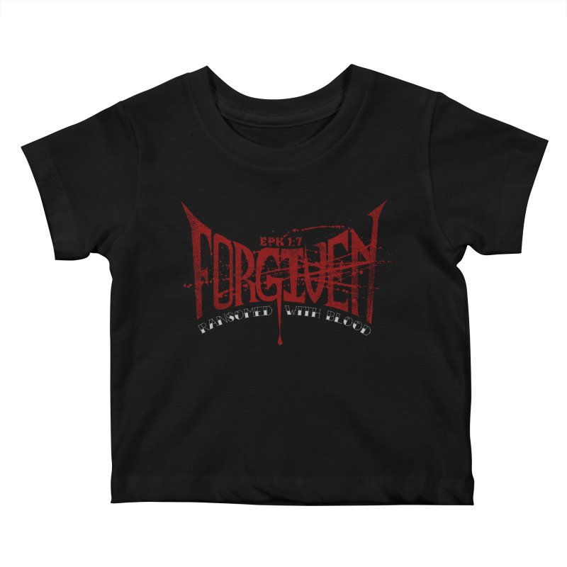 Forgiven: Ransomed with Blood Kids Baby T-Shirt by Stand Forgiven ✝ Bible-inspired designer brand