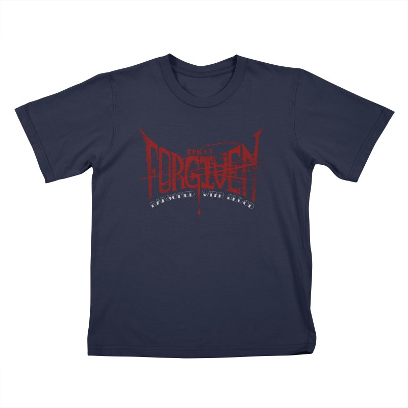 Forgiven: Ransomed with Blood Kids T-Shirt by Stand Forgiven ✝ Bible-inspired designer brand