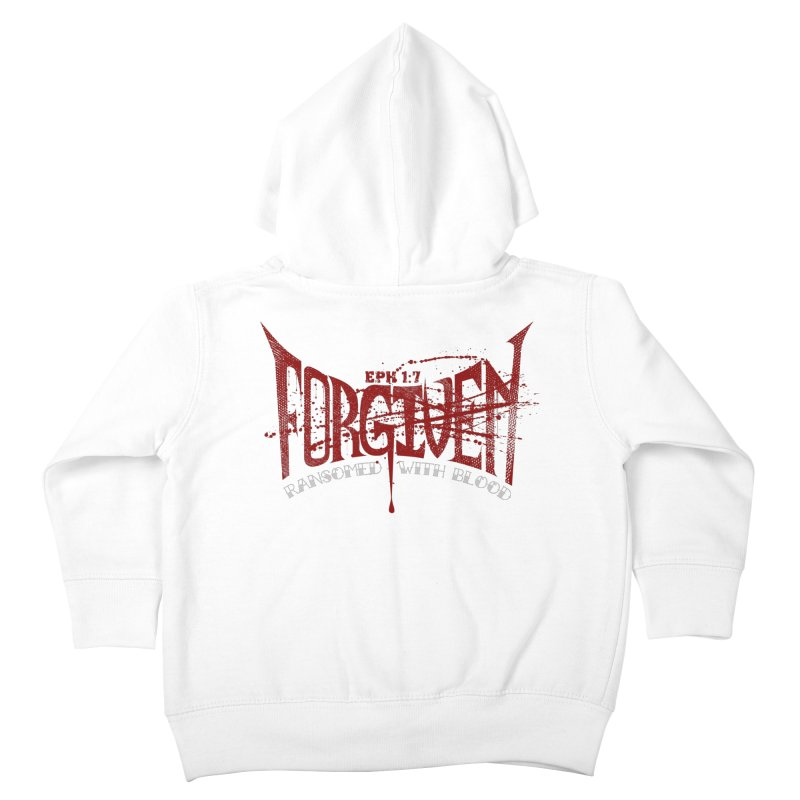 Forgiven: Ransomed with Blood Kids Toddler Zip-Up Hoody by Stand Forgiven ✝ Bible-inspired designer brand