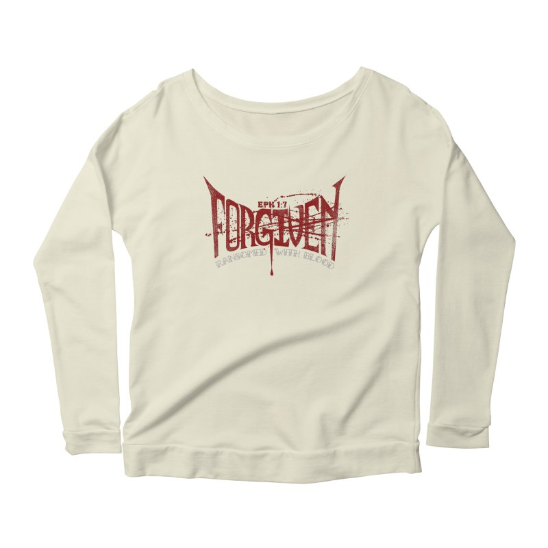 Forgiven: Ransomed with Blood Women's Scoop Neck Longsleeve T-Shirt by Stand Forgiven ✝ Bible-inspired designer brand