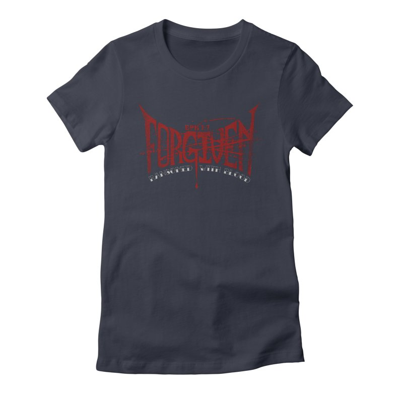 Forgiven: Ransomed with Blood Women's Fitted T-Shirt by Stand Forgiven ✝ Bible-inspired designer brand