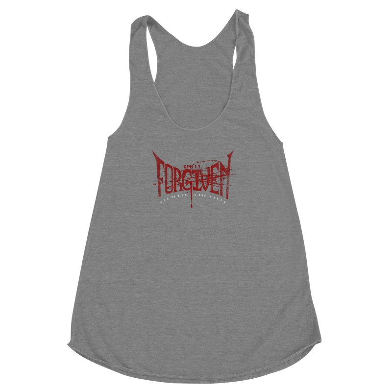 Forgiven: Ransomed with Blood Women's Racerback Triblend Tank by Stand Forgiven ✝ Bible-inspired designer brand