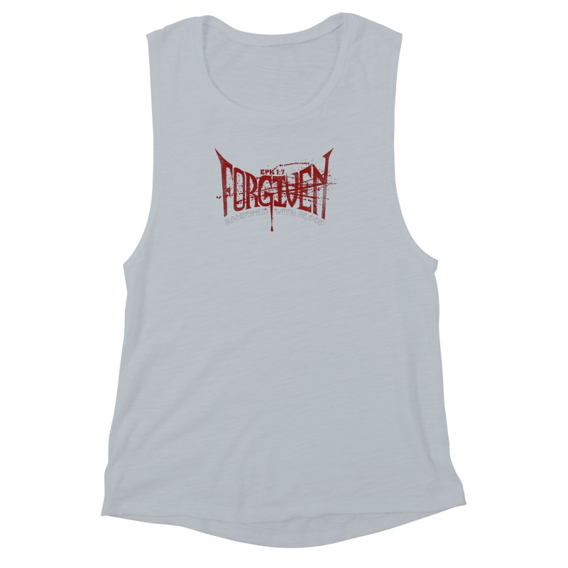 Forgiven: Ransomed with Blood Women's Muscle Tank by Stand Forgiven ✝ Bible-inspired designer brand