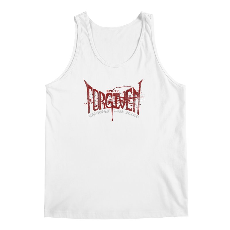 Forgiven: Ransomed with Blood Men's Tank by Stand Forgiven ✝ Bible-inspired designer brand