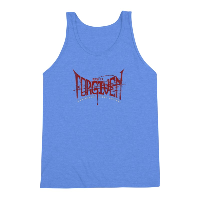 Forgiven: Ransomed with Blood Men's Triblend Tank by Stand Forgiven ✝ Bible-inspired designer brand