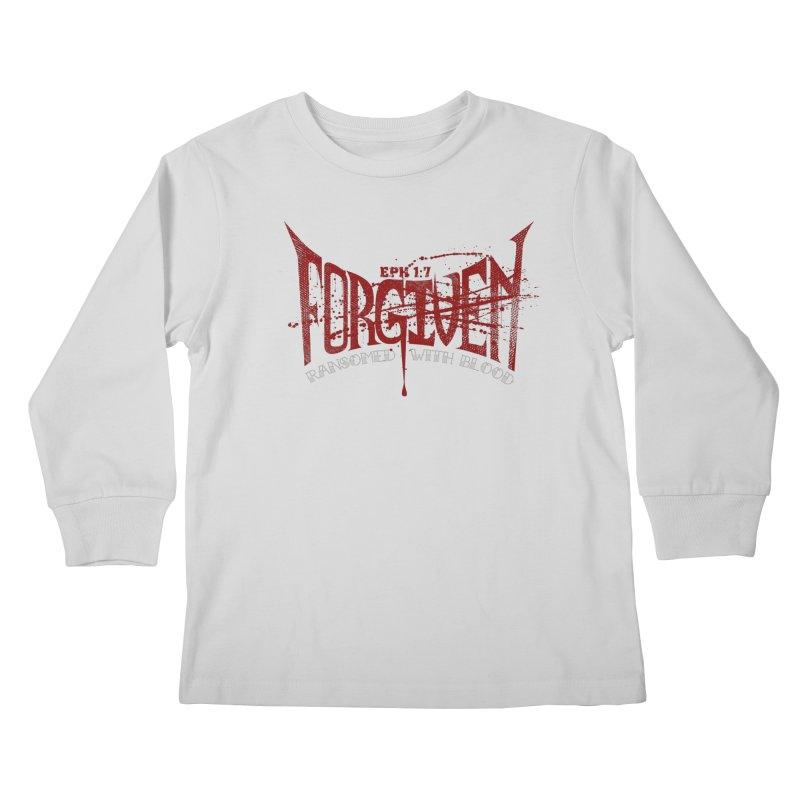 Forgiven: Ransomed with Blood Kids Longsleeve T-Shirt by Stand Forgiven ✝ Bible-inspired designer brand