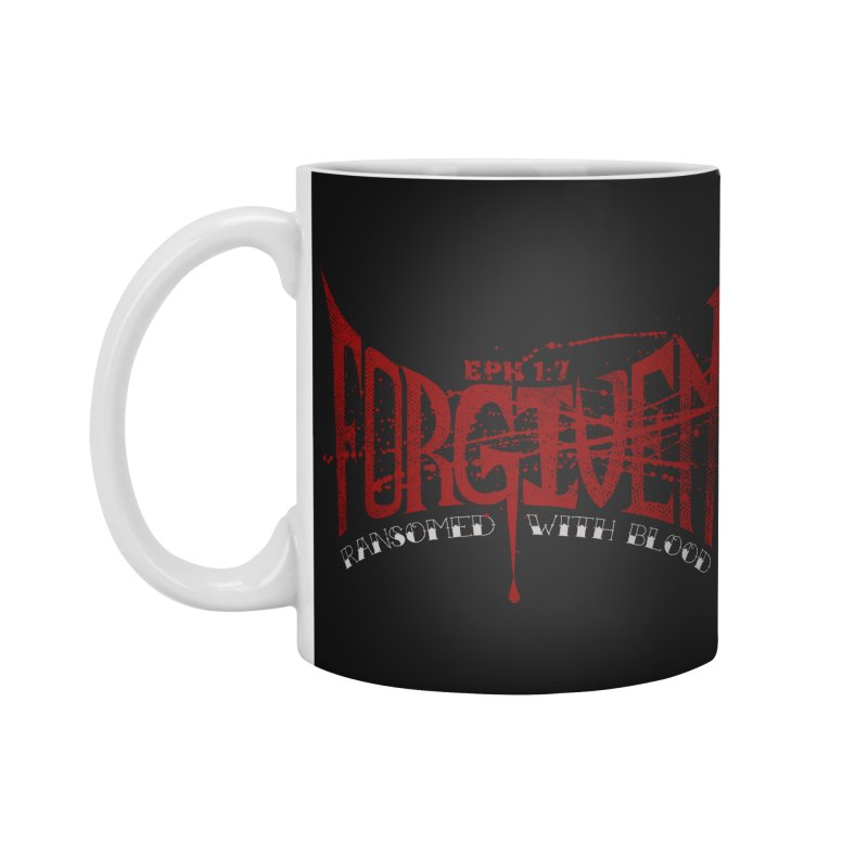Forgiven: Ransomed with Blood Accessories Standard Mug by Stand Forgiven ✝ Bible-inspired designer brand