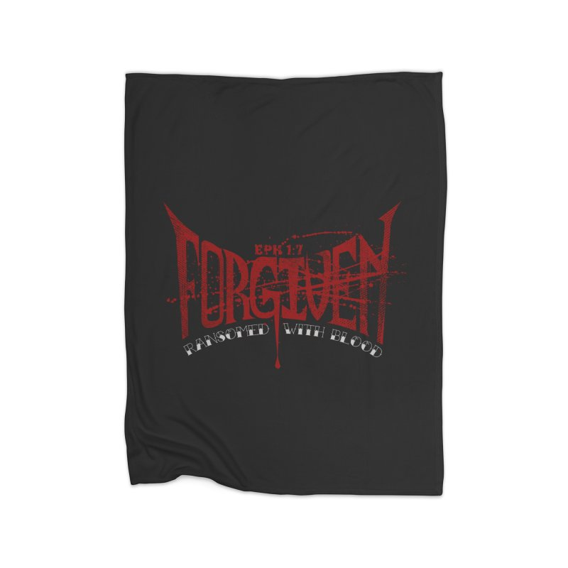 Forgiven: Ransomed with Blood Home Blanket by Stand Forgiven ✝ Bible-inspired designer brand
