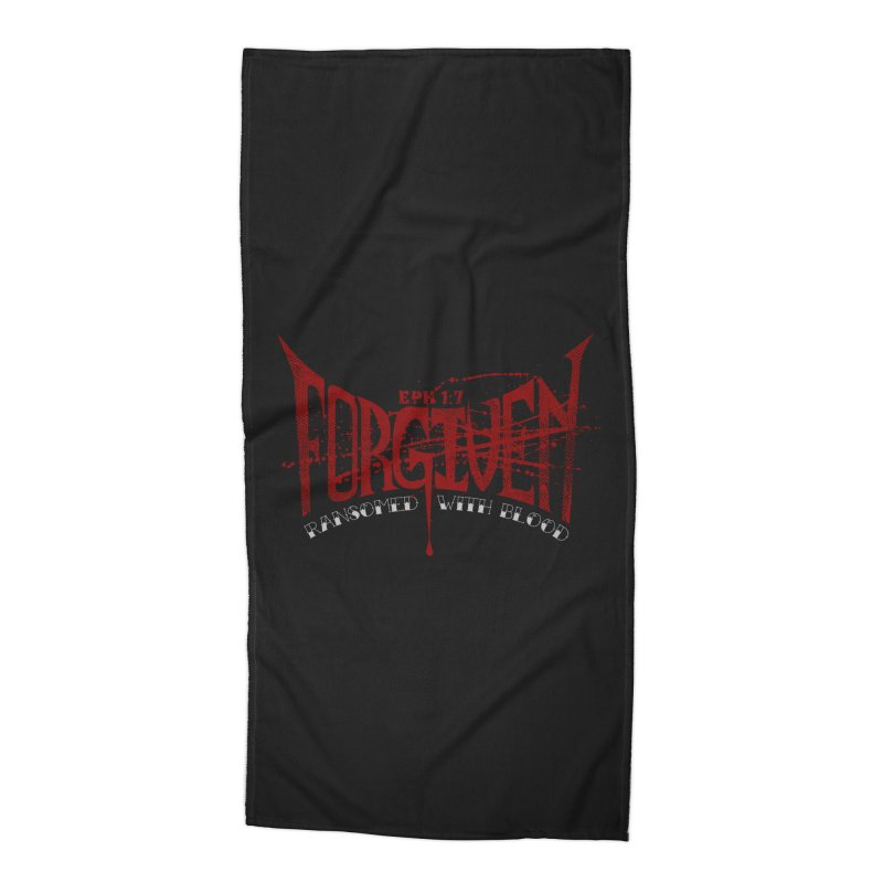 Forgiven: Ransomed with Blood Accessories Beach Towel by Stand Forgiven ✝ Bible-inspired designer brand