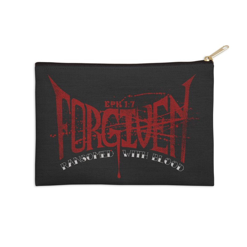 Forgiven: Ransomed with Blood Accessories Zip Pouch by Stand Forgiven ✝ Bible-inspired designer brand