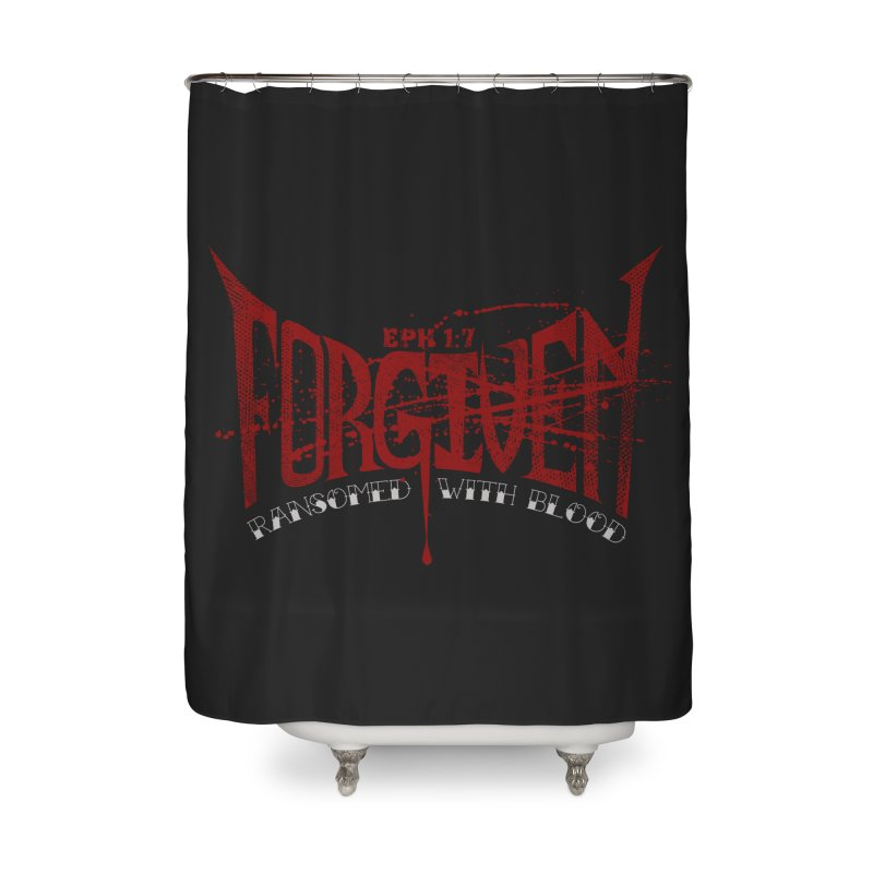 Forgiven: Ransomed with Blood Home Shower Curtain by Stand Forgiven ✝ Bible-inspired designer brand