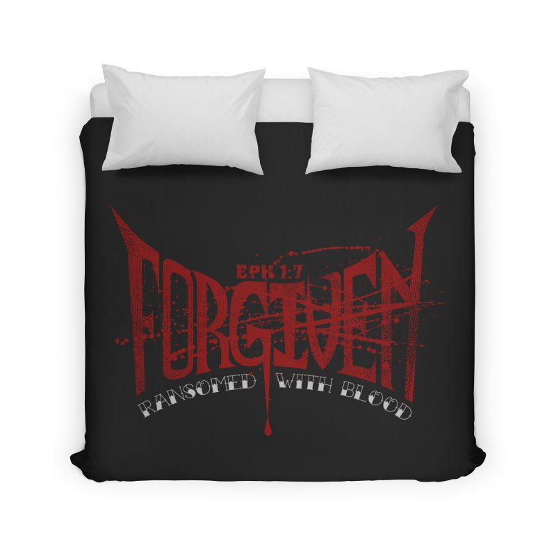 Forgiven: Ransomed with Blood Home Duvet by Stand Forgiven ✝ Bible-inspired designer brand