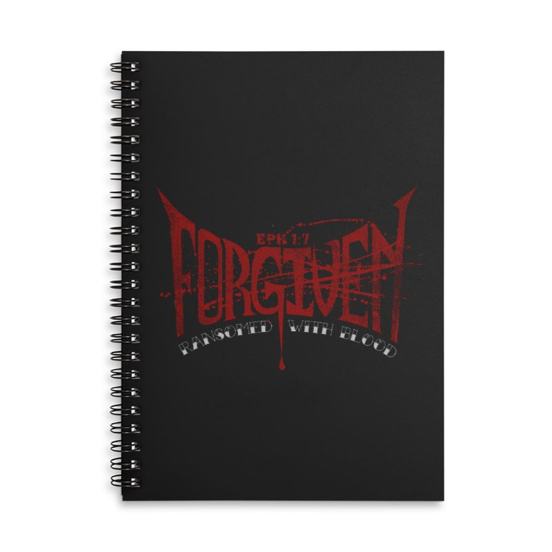 Forgiven: Ransomed with Blood Accessories Lined Spiral Notebook by Stand Forgiven ✝ Bible-inspired designer brand