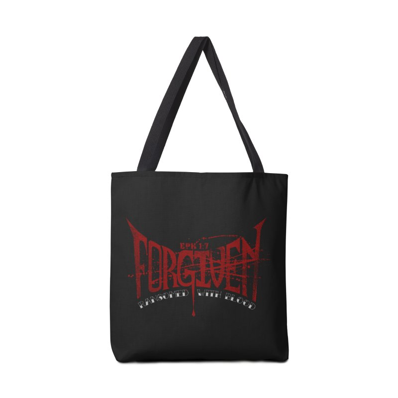 Forgiven: Ransomed with Blood Accessories Tote Bag Bag by Stand Forgiven ✝ Bible-inspired designer brand