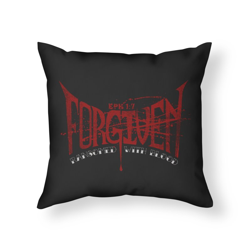 Forgiven: Ransomed with Blood Home Throw Pillow by Stand Forgiven ✝ Bible-inspired designer brand