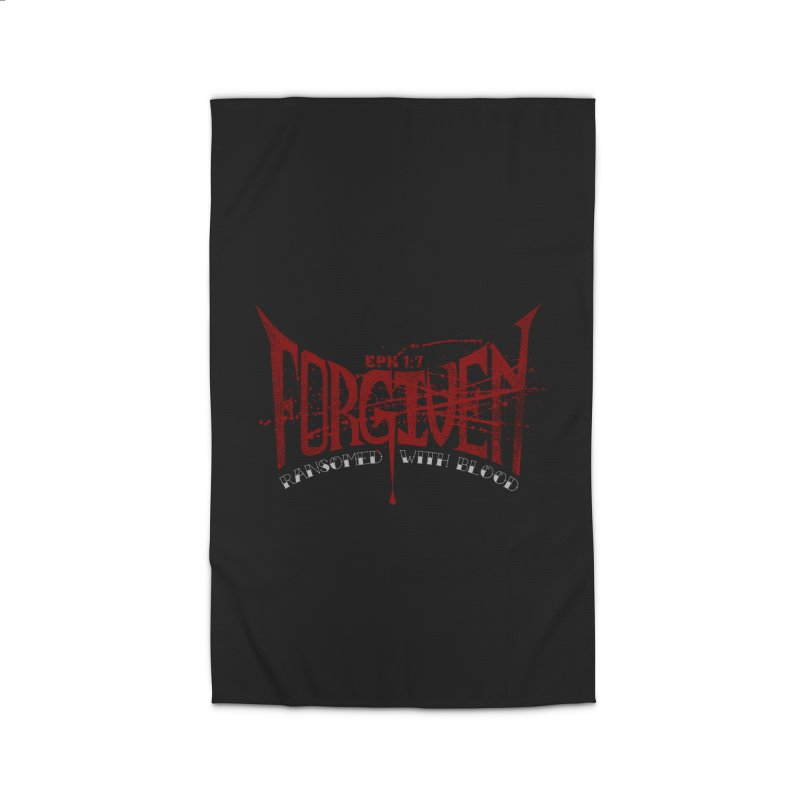 Forgiven: Ransomed with Blood Home Rug by Stand Forgiven ✝ Bible-inspired designer brand