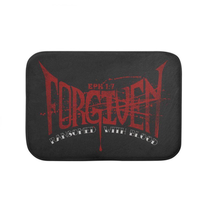 Forgiven: Ransomed with Blood Home Bath Mat by Stand Forgiven ✝ Bible-inspired designer brand