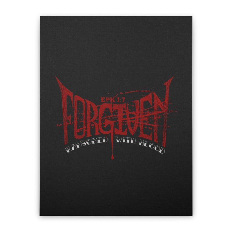 Forgiven: Ransomed with Blood Home Stretched Canvas by Stand Forgiven ✝ Bible-inspired designer brand