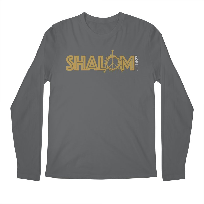 Shalom Men's Longsleeve T-Shirt by Stand Forgiven ✝ Bible-inspired designer brand