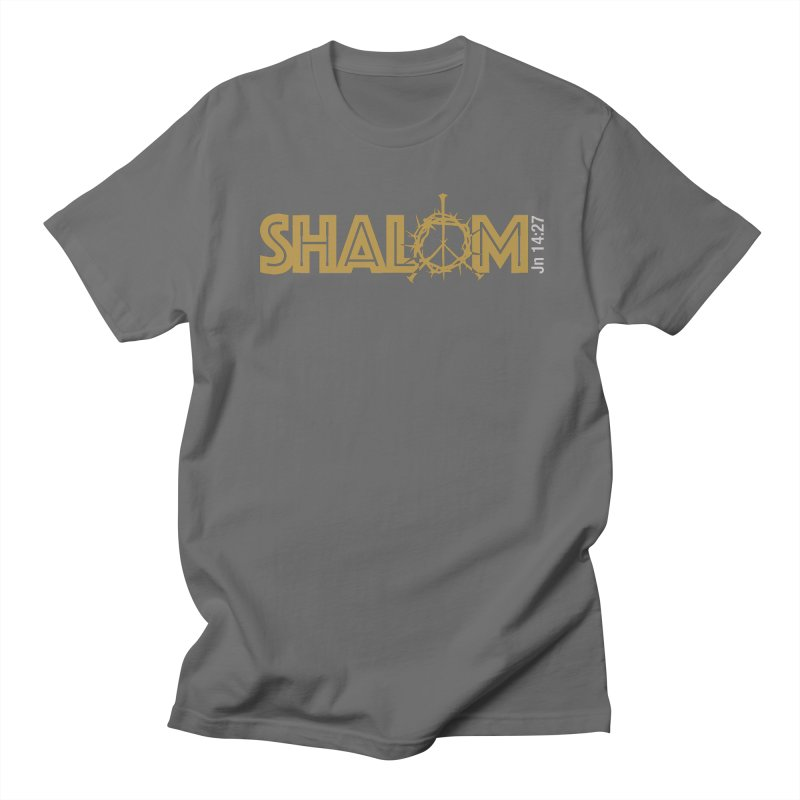 Shalom Men's T-Shirt by Stand Forgiven ✝ Bible-inspired designer brand